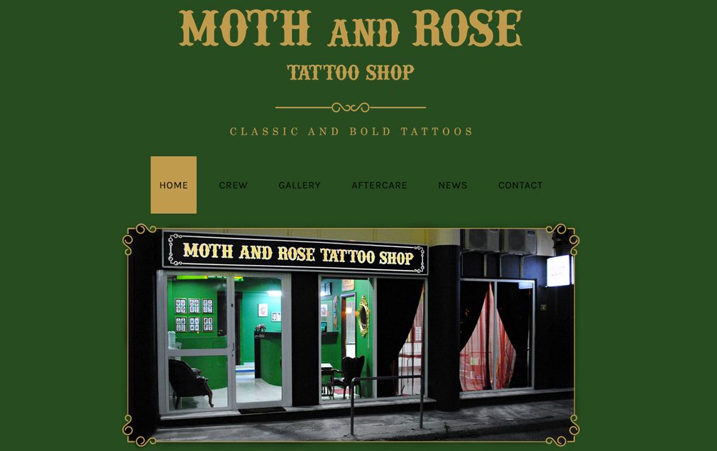 Moth and Rose Tattoo